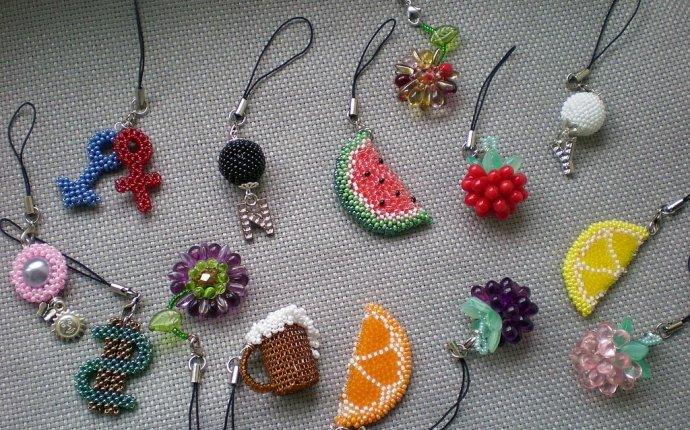 Брелки из бисера со схемами для плетения своими руками (фото)