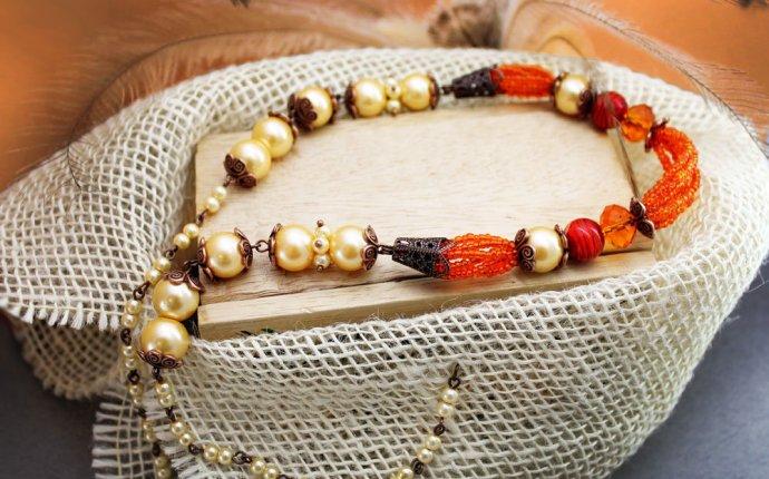 Мастер-класс - как сделать ожерелья, бусы своими руками из бисера