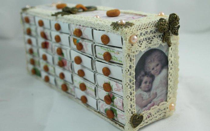 Шкатулка - комод шебби шик своими руками из спичечных коробков